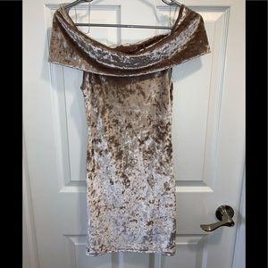 GORGEOUS Velvet Off Shoulder Dress